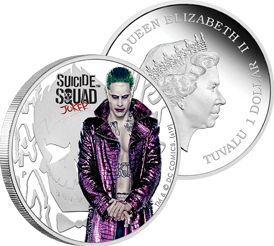 JOKER MINTAGE 5,000 2019 SUICIDE SQUAD SILVER COIN WITH OGP//COA 1 OZ